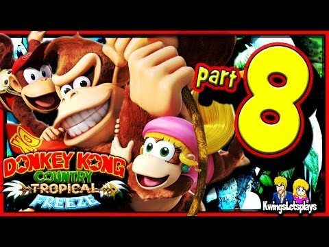 Donkey Kong Country: Tropical Freeze Walkthrough Part 8 Panicky Paddles