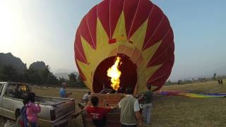 Hot Air Balloon Inflation (25.12.2013)