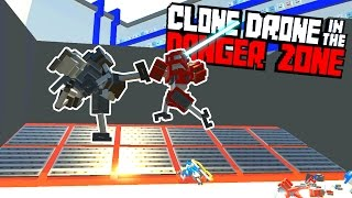 The Kick Only Challenge and Unlocking Super Kick! - Clone Drone in the Danger Zone Gameplay
