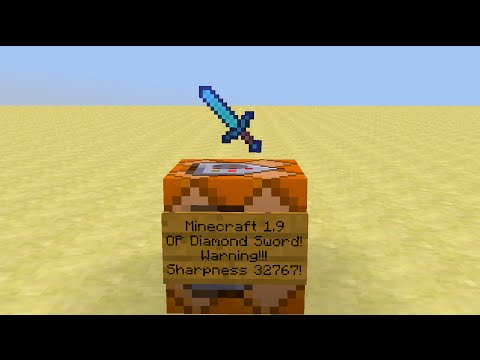 Minecraft - How to make an OP Sword in Vanilla 1.9!