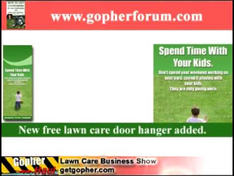 free lawn care door hanger template and website design gopherhaul