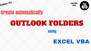 Learn Excel - Video 62 - VBA  How to Create Folders in Outlook