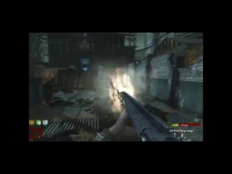 Call Of Duty WaW Zombies (Der Riese) - All Weapons