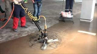 Ucrete UD200 Installation using a HoverTrowel by Sofis M, Moscow, Russia
