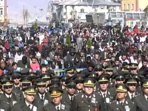 Erzurum Şehidini 50 bin kişi ile uğurladı