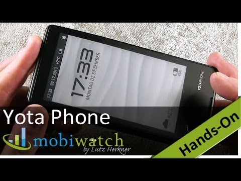 Hands On The Yota Phone: First Review Of The E-Ink Phone