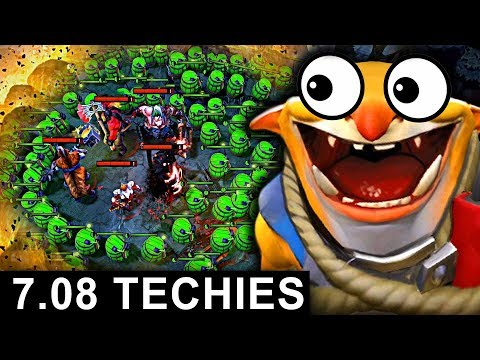 NEW TECHIES PATCH 7.08 DOTA 2 NEW META GAMEPLAY #17 (CARRY TECHIES)