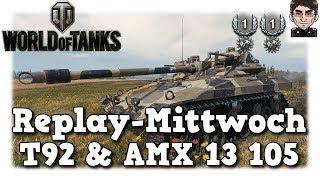 World of Tanks - T92 & AMX 13 105, beste Spotting Karten in World of Tanks [deutsch | Replay]
