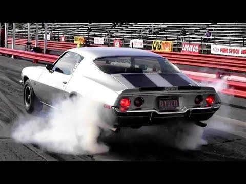 1965 Corvette (L79) vs 1970 Camaro Z28 (LT1) 1/4 Mile Drag Race - Road Test TV