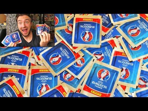 Ouverture de 100 Pack Panini FOOTBALL UEFA EURO 2016 ! #2 RONALDO RARE !!!