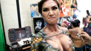 Body Painting at Alamo City Comic Con