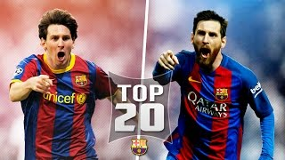 Lionel Messi Top 20 Goals Out Of All 500 For Barcelona English Commentary