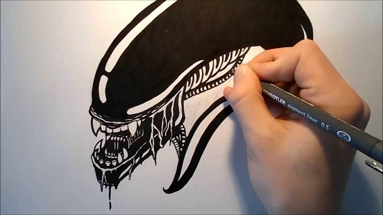 alien head drawing - photo #25