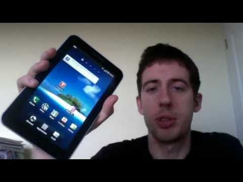 Making a phone call with the Samsung Galaxy Tab Android tablet