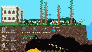 Castle Woodwarf Прошли всю игру 2D мир Игра Песочница как Орион онлайн или террария