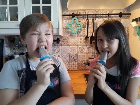 Готовим  мороженое из печенья Орео(oreo). Дети готовят еду сами без родителей. Cooking kids.