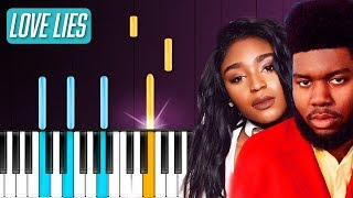 """Download Lagu Khalid & Normani - """"Love Lies"""" Piano Tutorial - Chords - How To Play - Cover Gratis STAFABAND"""