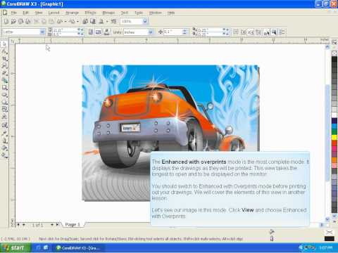 CorelDraw X3 Tutorial Lesson 1.3