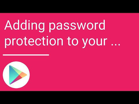 Adding password protection to your Google Play account