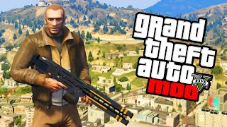 """GTA 5 NIKO MOD!"" GTA 5 Niko Bellic Mod PC & Gameplay (GTA V PC Mod)"