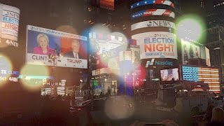 US Election Night in New York - 11/09 - Clinton vs. Trump