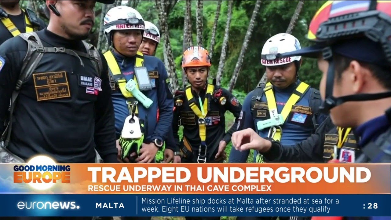 In Thailand, rescue efforts to help free 13 people in a cave are being stepped up.