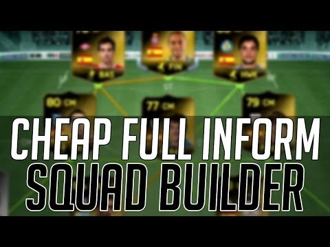 THE FULL INFORM AFFORDABLE SQUAD (CHEAP)   FIFA 14 Ultimate Team Squad Builder (FUT 14)