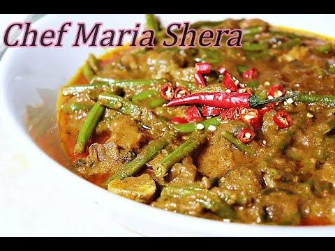 Mushroom curry-mushroom recipe-green beans- Samaroq- recipe- Korma- mushroom -Afghan recipes