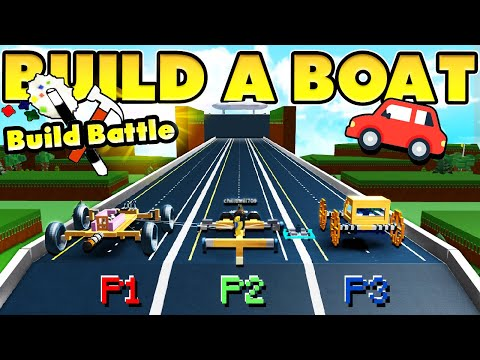 Build a Boat CARS to the BEACH! (GIANT ROAD!)