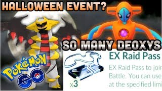 3 DEOXYS EX PASSES AT ONCE IN POKEMON GO   IS THE HALLOWEEN EVENT COMING?   SUICUNE BUG?