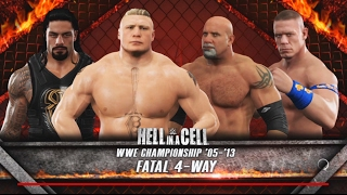 Download WWE 2K17-Brock Lesnar vs Roman Reigns vs John Cena vs Goldberg -Fatal 4-Way for WWE Championship 3Gp Mp4