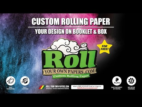 custom rolling paper Custom rolling papers – 1 1/4 whether you are a dispensary, caregiver, smoke shop, or compassion club custom rolling papers are the classic way to promote literally anything promote your album release create your own premium rolling paper brand.