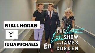 Niall Horan y Julia Michaels en Late Late show #1 [Subtitutado]