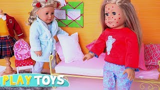 Baby Doll Doctor Check up! Play AG Doll morning bathroom routine for school!