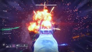 Destiny - 2 Three man one phase Calus kill using linear fusions (Tarantula)