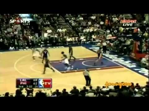 Allen Iverson 23pts vs Kobe Bryant 09/10 NBA  *third quarter reminiscent of 2001 Finals