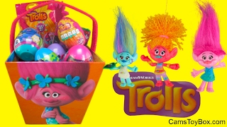 Dreamworks Trolls Easter Chocolate Surprise Collections Eggs Chupa Chups Lollipop Plastic Toys