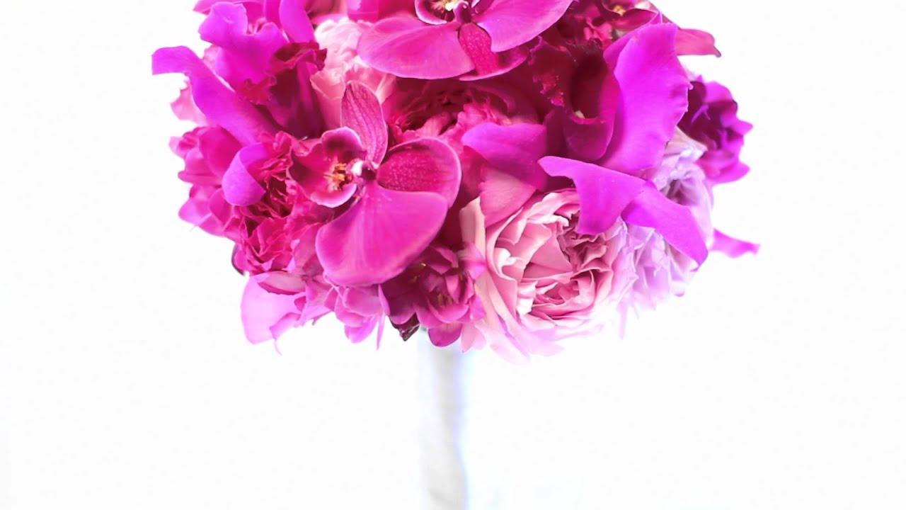 san diego wedding florist fuschia bridal bouquet youtube. Black Bedroom Furniture Sets. Home Design Ideas
