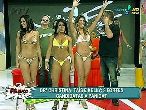 Cavalas candidatas a panicat: pesca com bungee jump: panico na tv: 20/03/2011