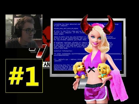 Barbie Puppy Game Crashes My Computer! - Let's Play I Wanna Be The Guy: Gaiden Part 1