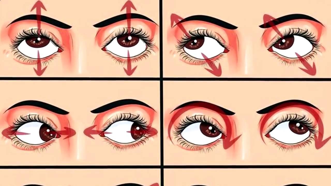 Упражнения для глаз как сделать их больше 996