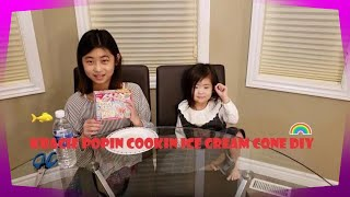 Kracie Popin Cookin Ice Cream Cone DIY (아이스크림 과자 만들기)