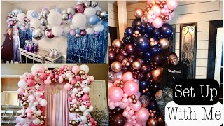 BALLOON GARLAND TUTORIAL | SET UP WITH ME | A BOOKED AND BUSY WEEKEND IN THE SNOW