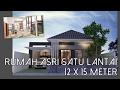 Rumah Asri Satu Lantai 12 X 15 Meter