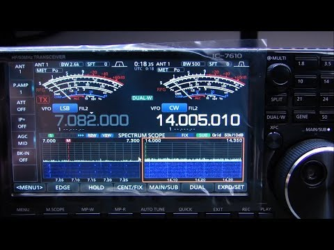 ALPHA TELECOM: ICOM IC-7610 REVIEW, INSIDE VIEW, DEMONSTRATION, FEATURES and FUNCTIONS