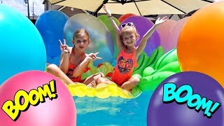 BIGGEST POOL & BALLOONS SURPRISE CHALLENGE HUNT!!!
