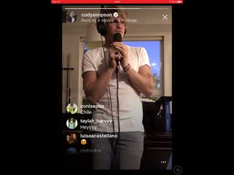 Cody Simpson singing on Instagram  🎤 🎶