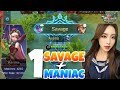 1 SAVAGE + 1 MANIAC TOP 1 KARINA BUILD / 520+ GLORIOUS LEGEND RANK GAMEPLAY