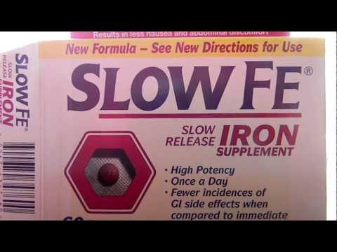Novartis Slow FE Slow Release Iron Supplement