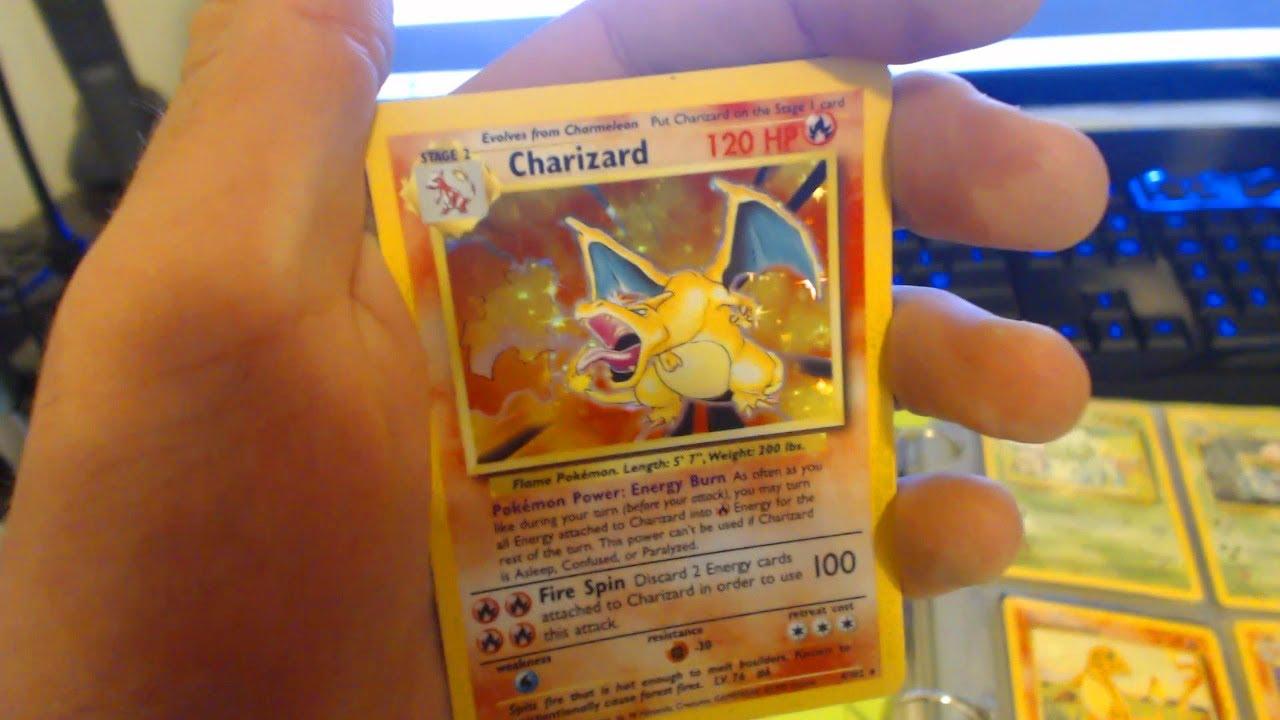 Pokemon 1st Generation Collection Charizard Holo Youtube